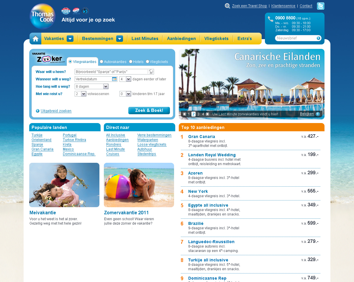 Thomas Cook redesign