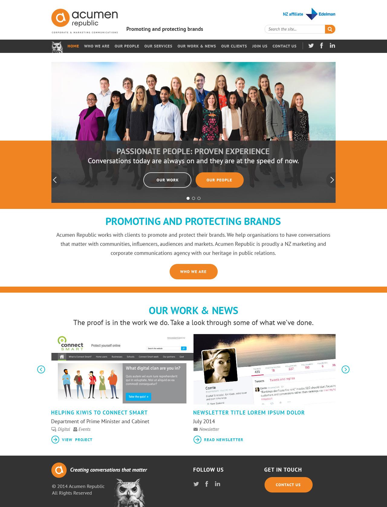 Acumen Republic Website