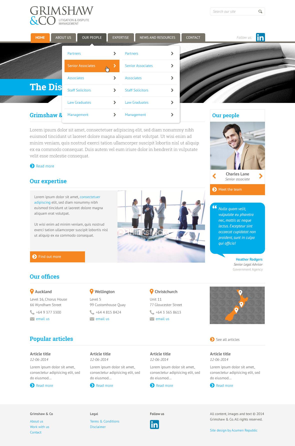 Grimshaw Website